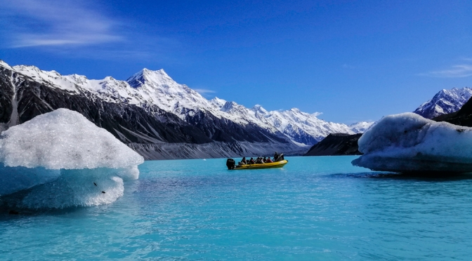 Tasman lake boat excursion